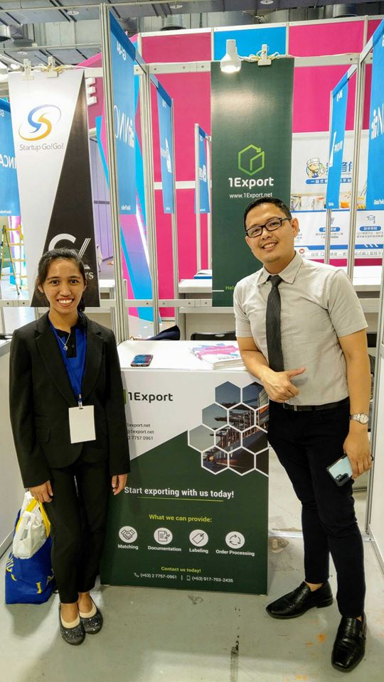 Ressa Magbanua and Dominic Milan of 1Export is at Meet Taipei!